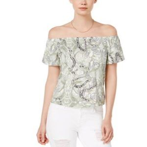 GUESS Womens Amore Pullover Blouse Gardenscuffy